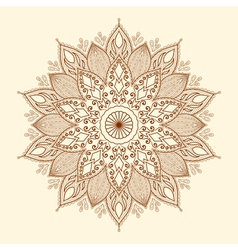 Mandala beautiful hand-drawn flower vector