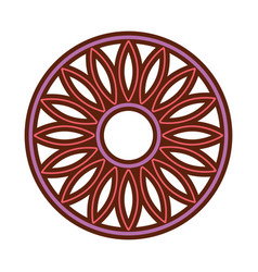Mandala retro culture icon vector
