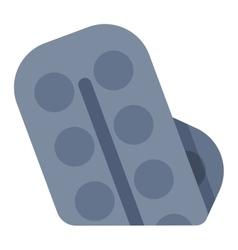 Packs pills icon medical flat vector image
