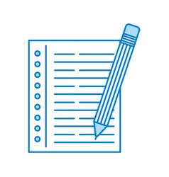 Pencil school with notebook vector