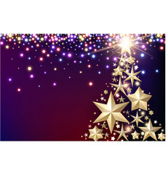 Purple background with christmas tree vector