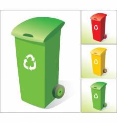 rubbish bins vector image vector image