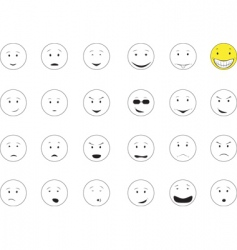 smiles emotions vector image