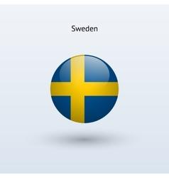Sweden round flag vector