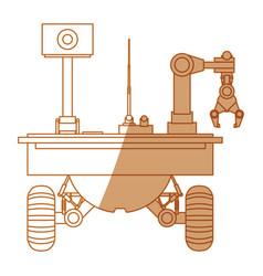 Table top robotic arms vector