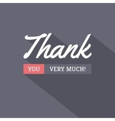 Thank You Modern Card vector image vector image