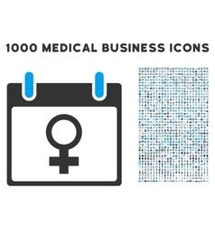 Venus female symbol calendar day icon with 1000 vector