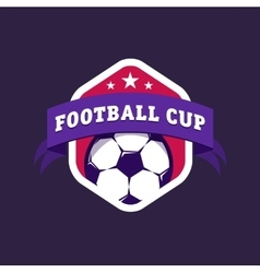 Vintage color football soccer championship logo - vector