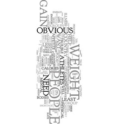 You want to gain weight text word cloud concept vector