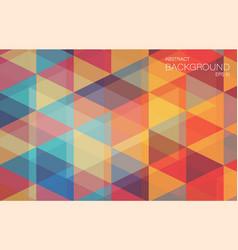 Retro color geometric triangle wallpaper vector