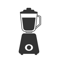 A gray stationary blender icon vector
