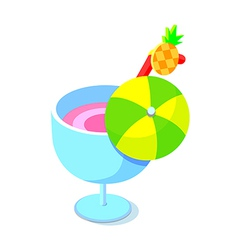Icon cocktail vector