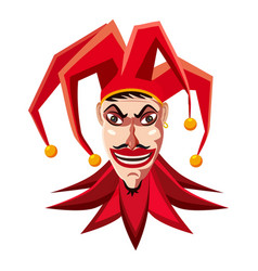 jester in red hat icon cartoon style vector image