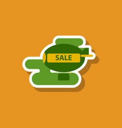 fashion patch  sale sticker air balloon vector image
