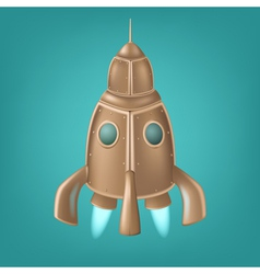 Old bronze rocket vector