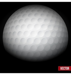 Background of traditional golf ball vector image
