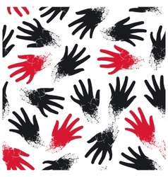 Seamless pattern of the hands vector