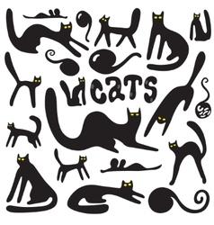 cats doodles vector image