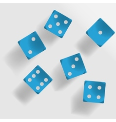 Blue dice vector