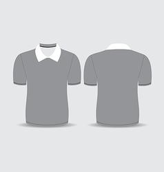 gray polo t shirt vector image