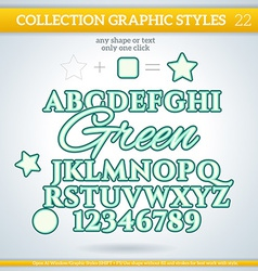 Green graphic styles for design use for decor text vector