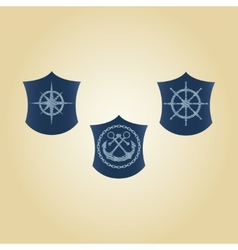Set of maritime symbols vector