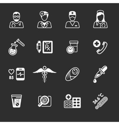 Line medical icons vector