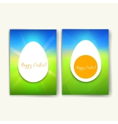 Set of trendy easter posters with hand drawn vector