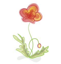 A flower imitation of childrens drawings vector