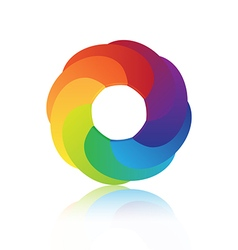 Abstract circle colorful 3d icon design vector