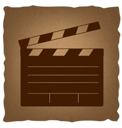 Film clap board cinema sign vector