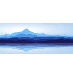 blue mountains with lake vector image vector image