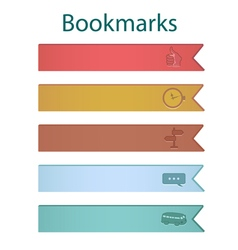 Bookmark icons river vector image vector image