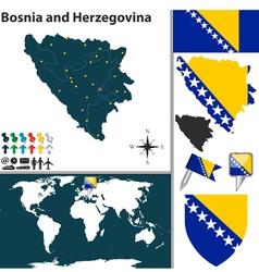 Bosnia and Herzegovina map vector image vector image