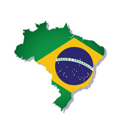 brazil flag amp map vector image vector image