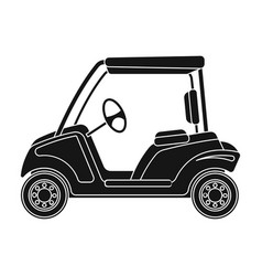 car for golfgolf club single icon in black style vector image vector image