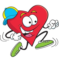Cartoon running heart vector