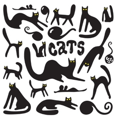 cats doodles vector image vector image