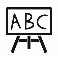 Chalkboard with the leters abc icon simple style vector