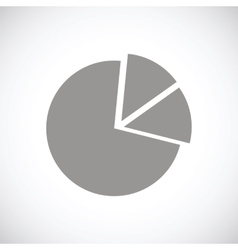 Circle chart black icon vector
