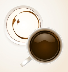 Coffee with coaster paper vector