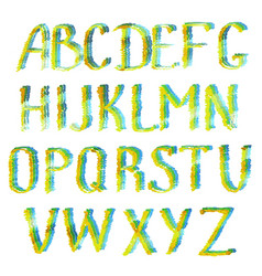 Colorful english alphabet letters vector