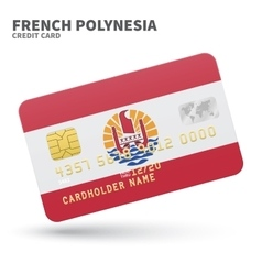 Credit card with french polynesia flag background vector