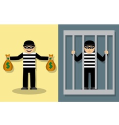 Crime and Punishment vector image