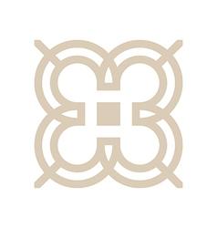 Design number 3 arrow brown icon symbol vector