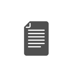document management simple icon file sign vector image