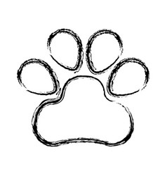 Dog footprint isolated icon vector