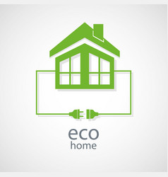 Eco home concept vector