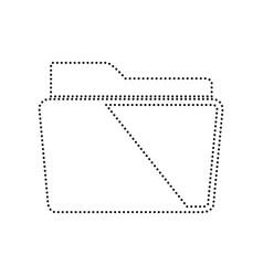 folder sign black dotted vector image