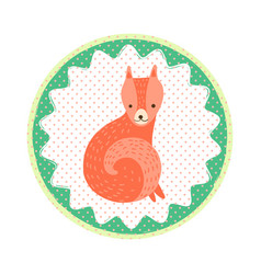 fox badge vector image vector image